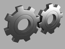 Steel gear 3d Render Stock Image