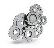 Steel gear mechanism Royalty Free Stock Images