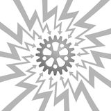 Steel gear wheel in arrow zigzag circle vector Stock Photo