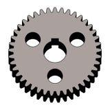 Steel gear wheel. 3D effect vector stock photography
