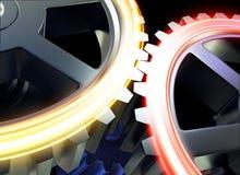 Steel gear wheels Stock Photos