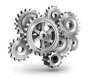 Steel gear wheels concept Royalty Free Stock Photo