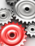 Steel gear wheels Royalty Free Stock Photo