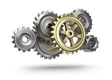 Steel gear wheels icon  Royalty Free Stock Photography