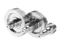 Steel gear wheels Stock Images