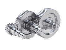 Steel gear wheels technical mechanical illustration Royalty Free Stock Image