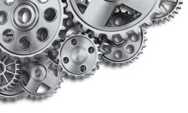 Steel gear wheels Royalty Free Stock Image