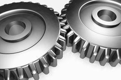 Steel gear wheels Royalty Free Stock Images