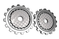 Steel gear wheels Stock Photo