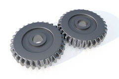 Steel gear wheels Stock Photos