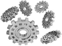 Steel gears Royalty Free Stock Photo