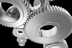 Steel Gears Background Royalty Free Stock Photo