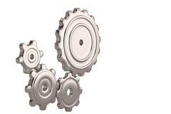 Steel gears on white background. 3D illustration. Steel gears on white background. 3D illustration vector illustration