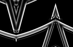 Steel geometry. Abstract illustration. Pattern for Web design. Black and white color Stock Photo