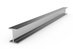 Steel girder. 3d illustration of steel girder on white background Royalty Free Stock Photography