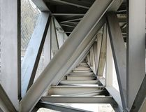 Steel Girder Bridge Seen from Below Stock Image