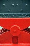 Steel girder support. A detail of a steel girder support in contrasting color ... abstract background Royalty Free Stock Image