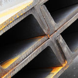 Steel girders Stock Photo