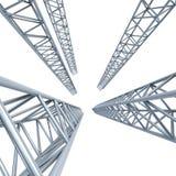 Steel girders Stock Image