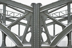 Steel Girders on a Metal Truss Bridge Royalty Free Stock Photo