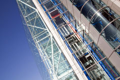 Steel glass architecture building Stock Images