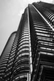 Steel and Glass building structure in Black and white royalty free stock images