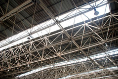 Steel and glass ceiling Royalty Free Stock Photo