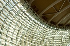 Steel and Glass Ceiling Royalty Free Stock Photos