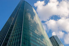 Steel and glass corporate buildings Stock Image