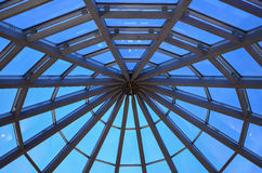 Steel and glass dome Stock Photography