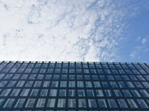 Steel and glass facade on Stockholm modern building Stock Photo