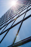 Steel and glass - mirrored facade of modern skyscraper Stock Photography