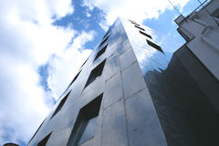 Steel and glass office building. Steel and glass office modern building stock image