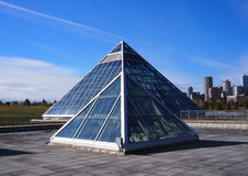 Steel And Glass Pyramids Royalty Free Stock Photography