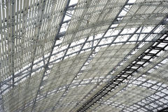 Steel and glass roof construction Royalty Free Stock Images