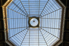 Steel and glass roof structure Stock Photo
