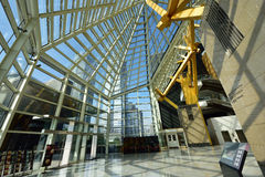 Steel and glass structure Stock Image