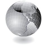Steel globe america Stock Photo