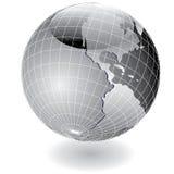 Steel globe america vector illustration