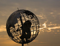 Free Steel Globe At Sunset Stock Photos - 11036903