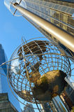 Steel globe at Columbus Circle. Royalty Free Stock Photography
