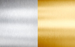 Steel and gold metal brushed textures royalty free stock photo