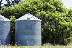 Steel Grain Bins Stock Images