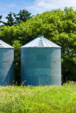 Steel Grain Bins Stock Photos