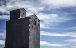 Steel Grain Elevator. An abandoned rusty steel grain elevator Stock Images