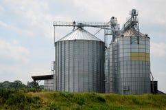 Steel grain elevator Royalty Free Stock Image