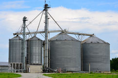 Steel Grain Industrial Silo Royalty Free Stock Photography