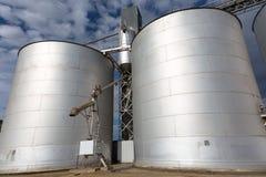 Steel grain Silos Royalty Free Stock Photo