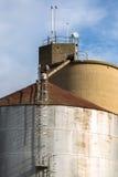 Steel grain Silos Royalty Free Stock Photography