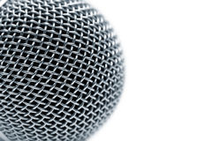 Steel grate of microphone. Isolated on white stock photo